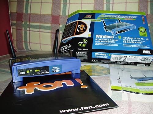 Router WRT54G con firmware de fon